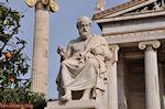 Beeld van Platon (2m 40 cm): Academie Athene