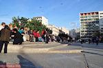 Het Omoniaplein in Athene op een zondagmiddag in November