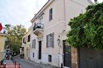 Neoklassiek gebouw op de Flessa straat van Plaka - Athene