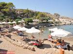 Het gezellige strand van Kalithea Rhodos