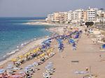 Strand aan de westkant - Rhodos stad